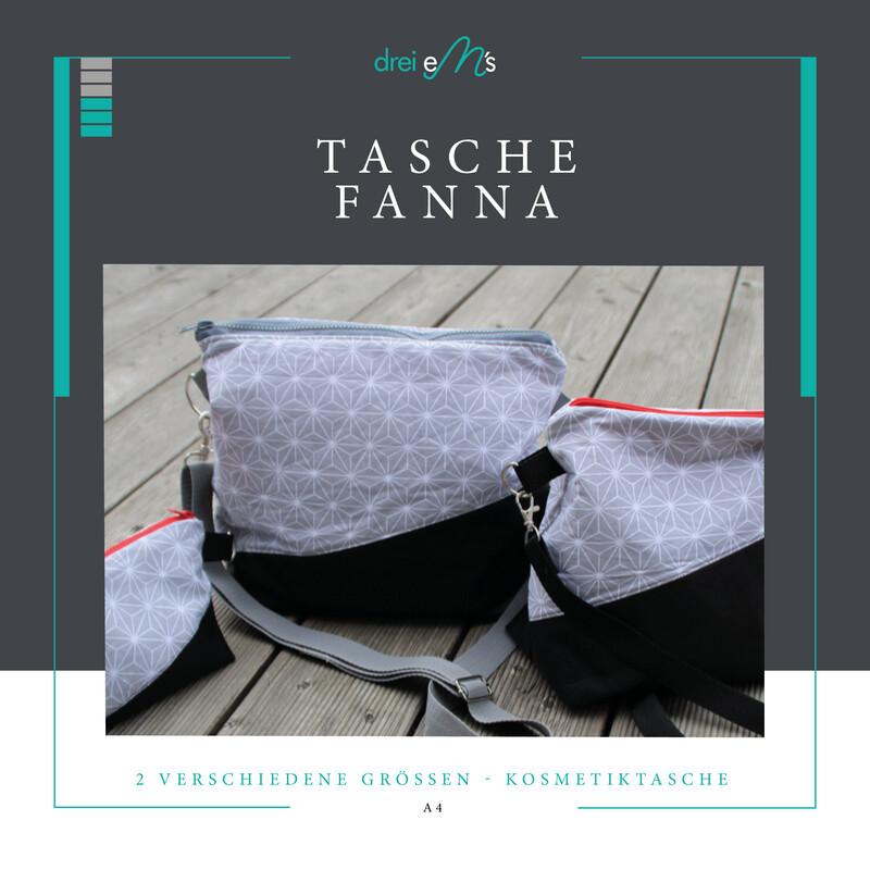 ebook Tasche FANNA -  2 Verschiedene Taschengrößen + Kosmetiktasche
