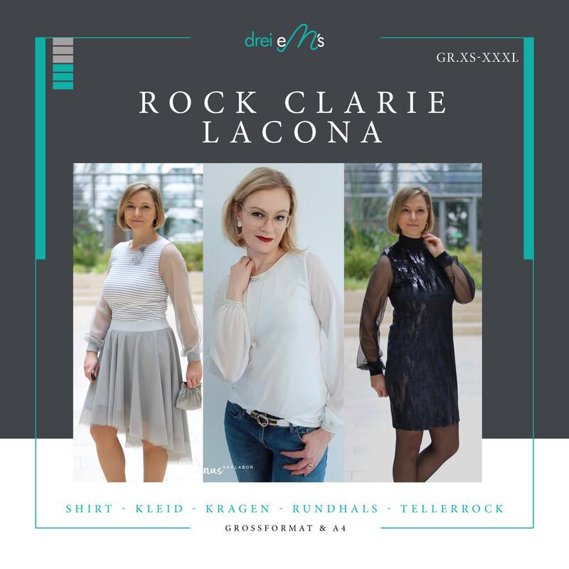 Ebook Shirt / Kleid LACONA Gr. XS-XXXL+ Rock CLARIE