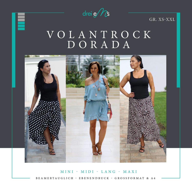 Ebook Volant-Rock DORADA Gr. XS-XXL