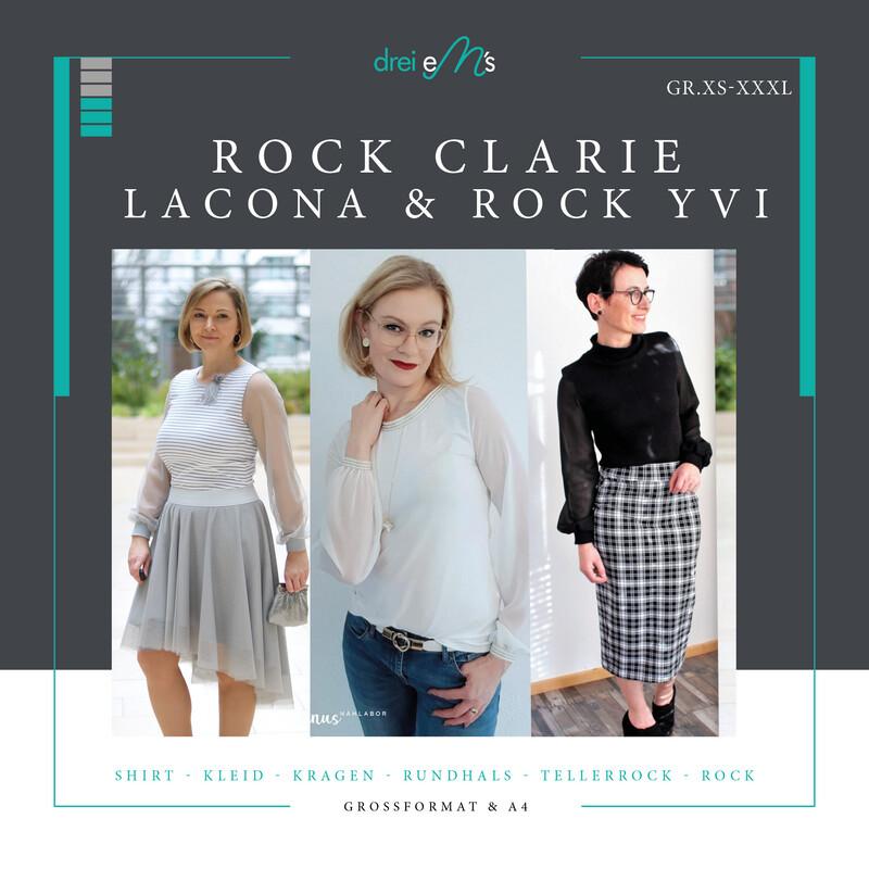 Ebook Shirt / Kleid LACONA Gr. XS-XXXL+ Rock CLARIE + Rock YVI