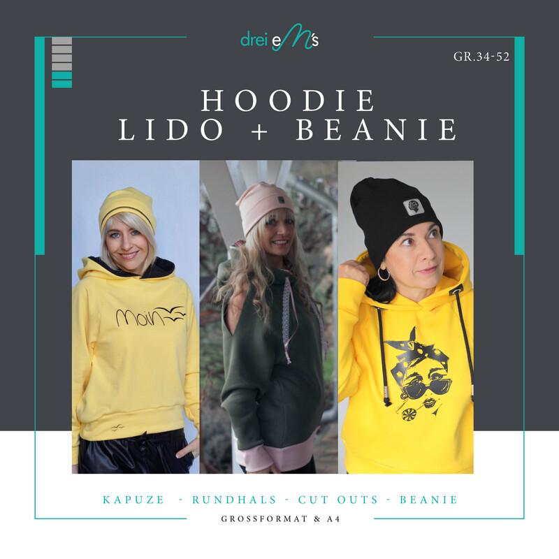 Kombi-Ebook Hoodie LIDO Gr. 34-52 inkl. Hipster Beanie
