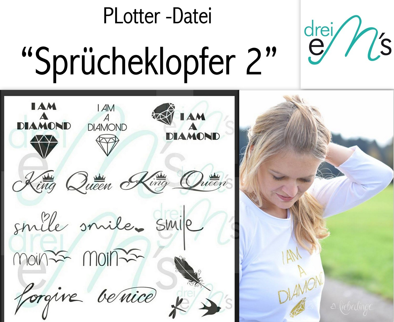 """Plotter- Datei """"SPRÜCHEKLOPFER 2"""""""