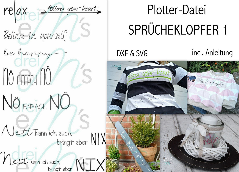 """Plotter- Datei """"SPRÜCHEKLOPFER 1"""""""