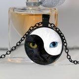 Cat Eyes Yin Yang Locket Neckklace