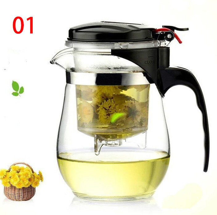 High Quality Heat Resistant Glass Chinese Kung fu tea set puer kettle,coffee glass maker convenient office tea pot !!