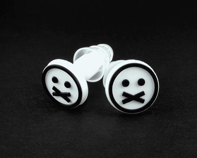 Earplugs with FACE logo