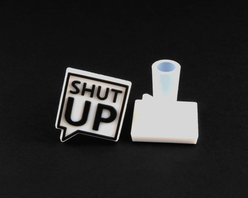 SHUT UP logo