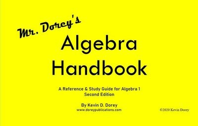 Individual Copies of Mr. Dorey's Algebra Handbook - 2nd Edition