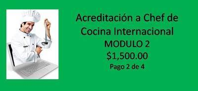 Acreditación a Chef de Cocina Internacional MODULO 2