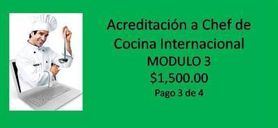 Acreditación a Chef de Cocina Internacional MODULO 3