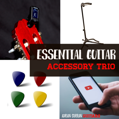Essential Guitar Accessory Trio Bundle