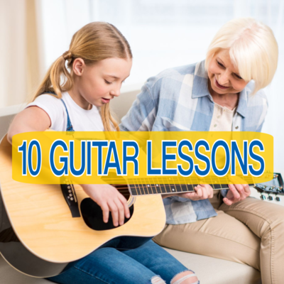 🎸10  LIVE INTERACTIVE GUITAR LESSONS (Online or In-Person)🎸