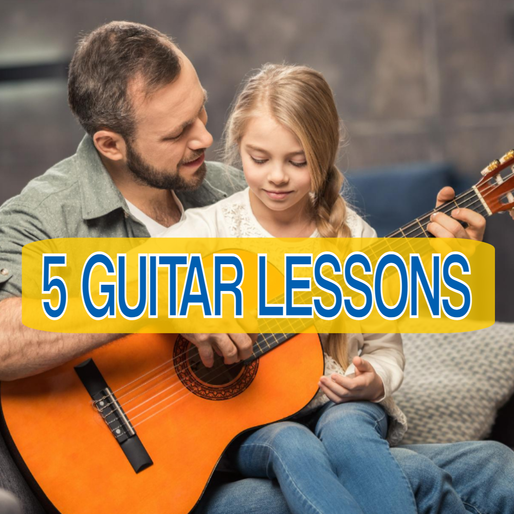 🎸5 LIVE INTERACTIVE GUITAR LESSONS (Online or In-Person)🎸