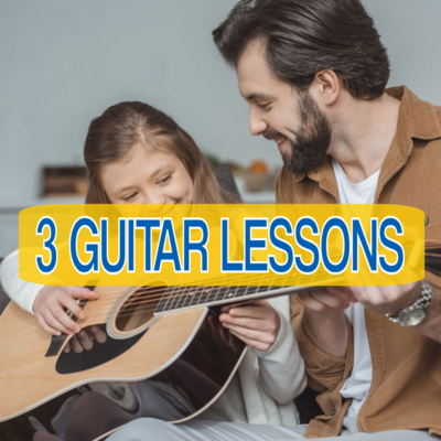 🎸3  LIVE INTERACTIVE GUITAR LESSONS (Online or In-Person)🎸