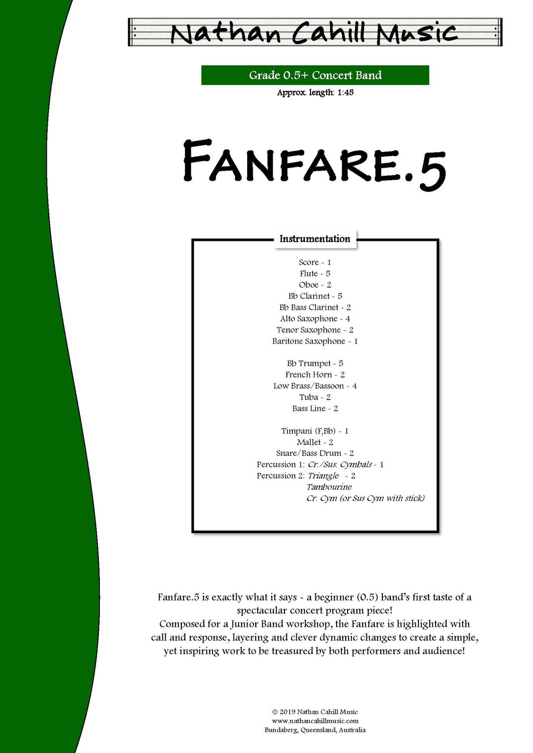Fanfare.5 - Level 0.5 Concert Band
