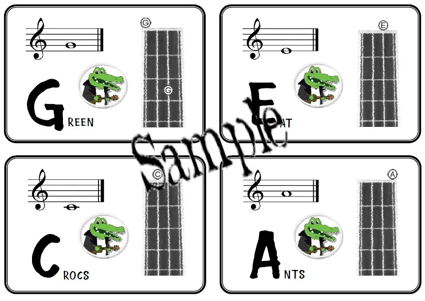 A7 Note Name Cards