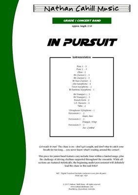 In Pursuit - Level 1.5 Concert Band
