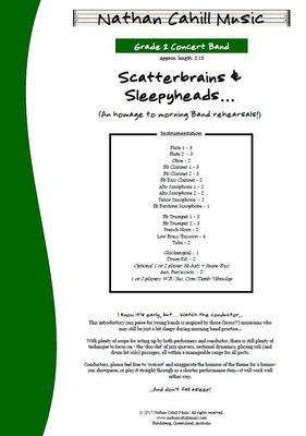 Scatterbrains and Sleepyheads! - Level 2 Concert Band