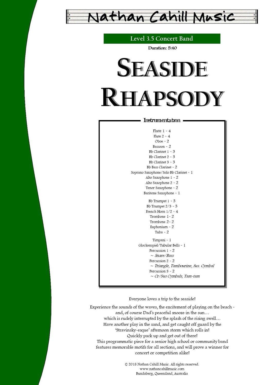 Seaside Rhapsody - Level 3.5 Concert Band