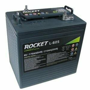 Rocket L-605 -  6V - 210AH Batterie - batt 6v-ro-L-605