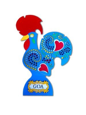 Galo de Goa Rooster_Blue