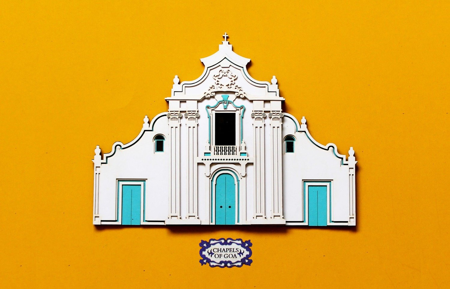 Chapel in Old Goa_Yellow