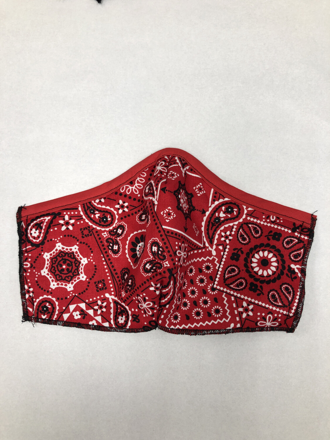 Red Bandana With Red Trim
