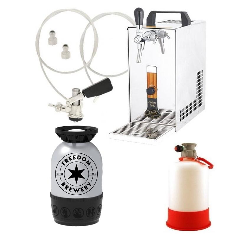 Lindr 20K Starter kit (Lager) - Includes coupler, beer and cleaning bottle