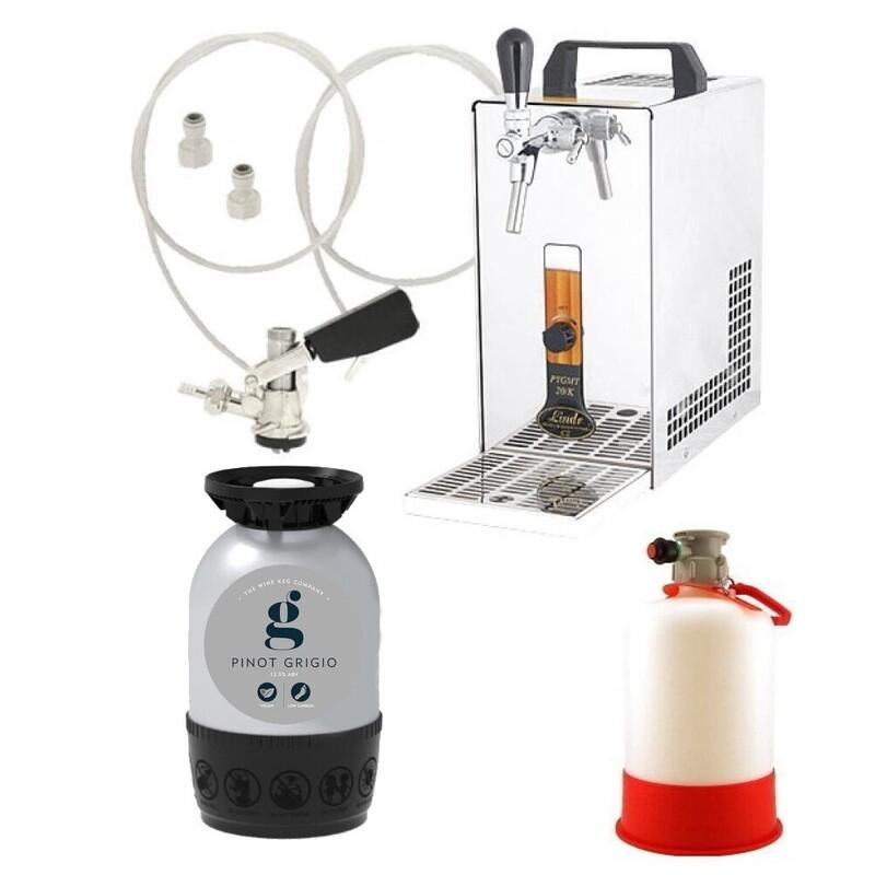 Lindr 20K Starter kit (Wine) - Includes coupler, wine keg and cleaning bottle