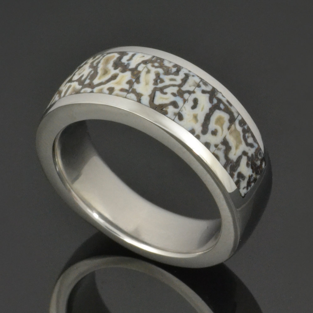 Stainless Steel Dinosaur Bone Ring