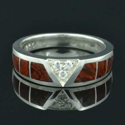 Dinosaur Bone Wedding Ring in Sterling Silver by Hileman Silver Jewelry