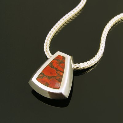 Red Dinosaur Bone Pendant