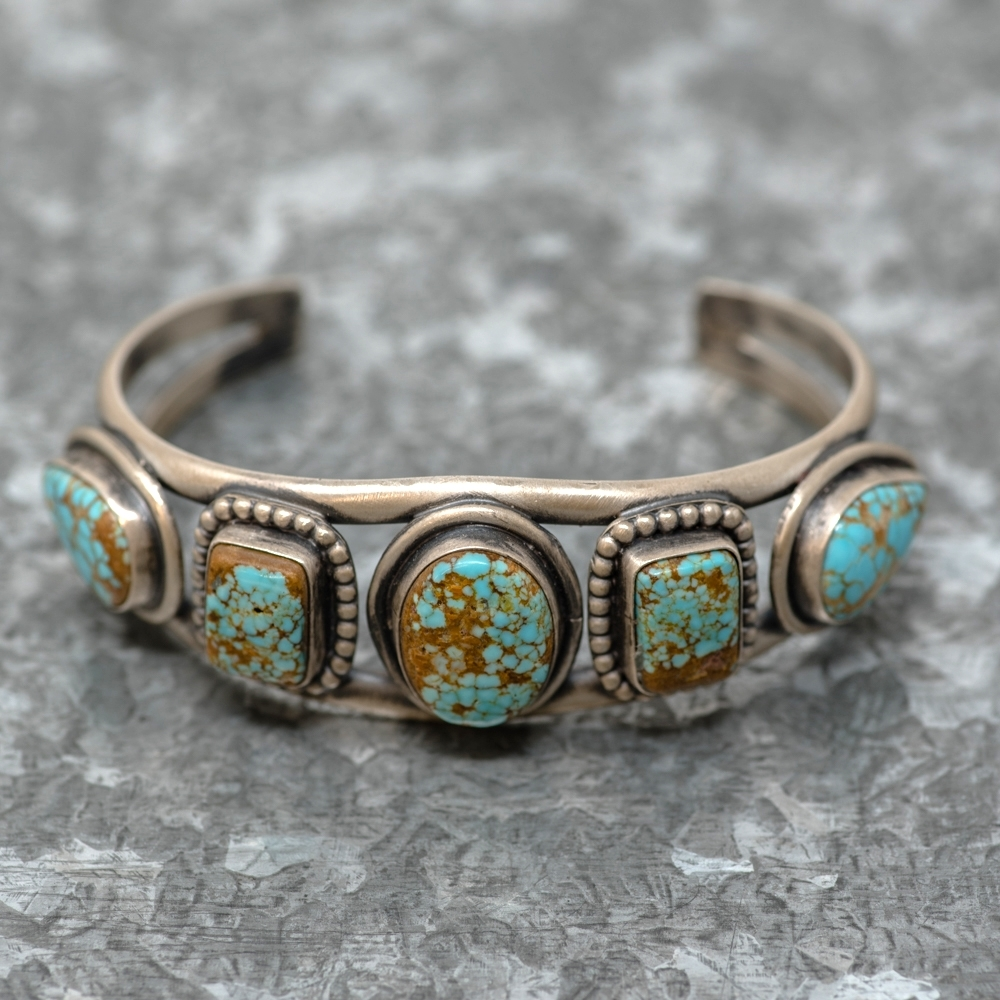 #8 Turquoise Bracelet by Martha Willeto - Front View