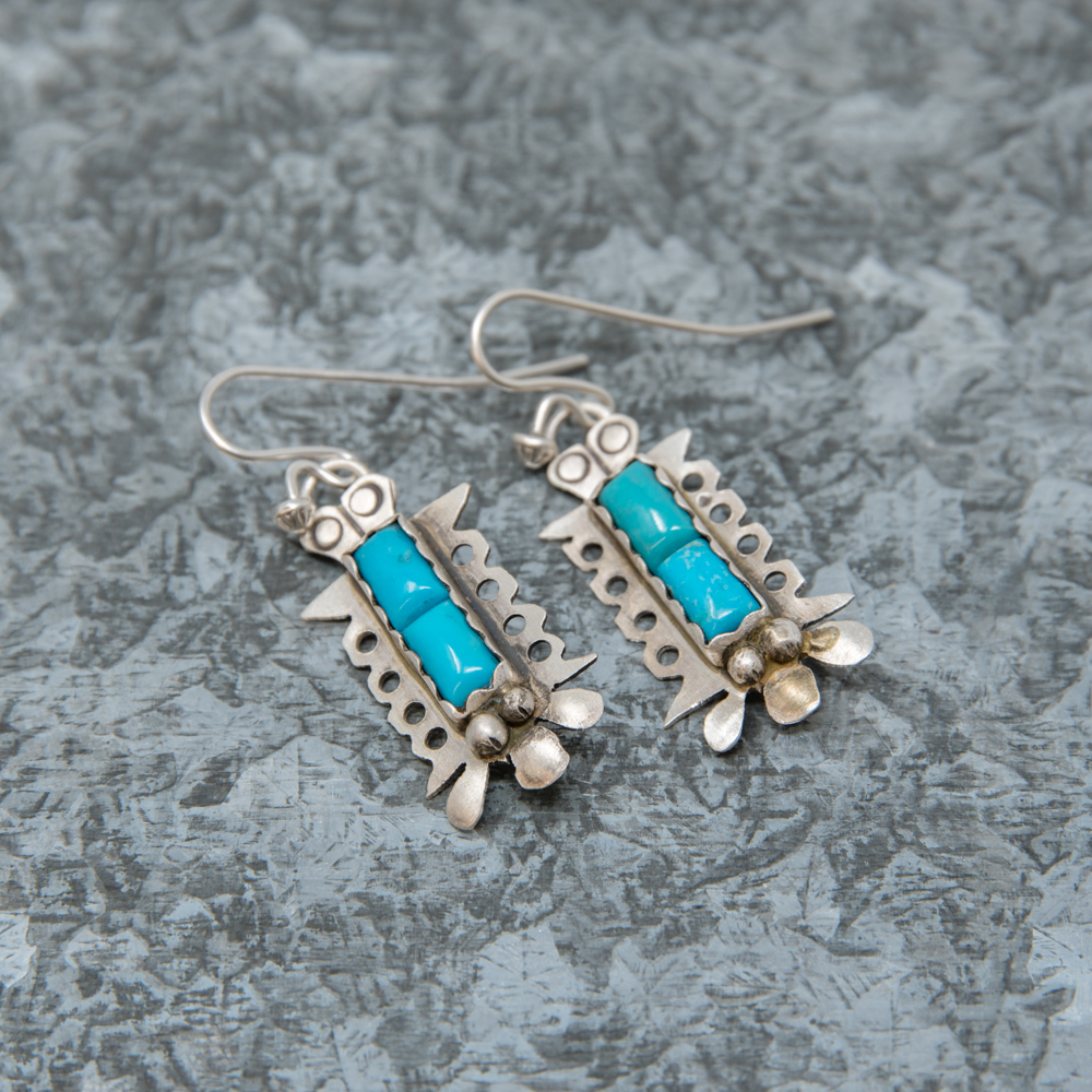 Kingman Turquoise Earrings by Andrew Ruiz JE190024