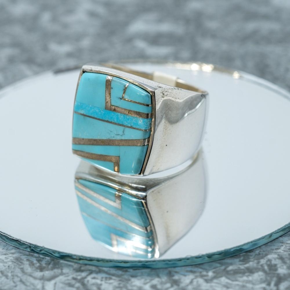 Kingman Turquoise Sterling Ring JE190045