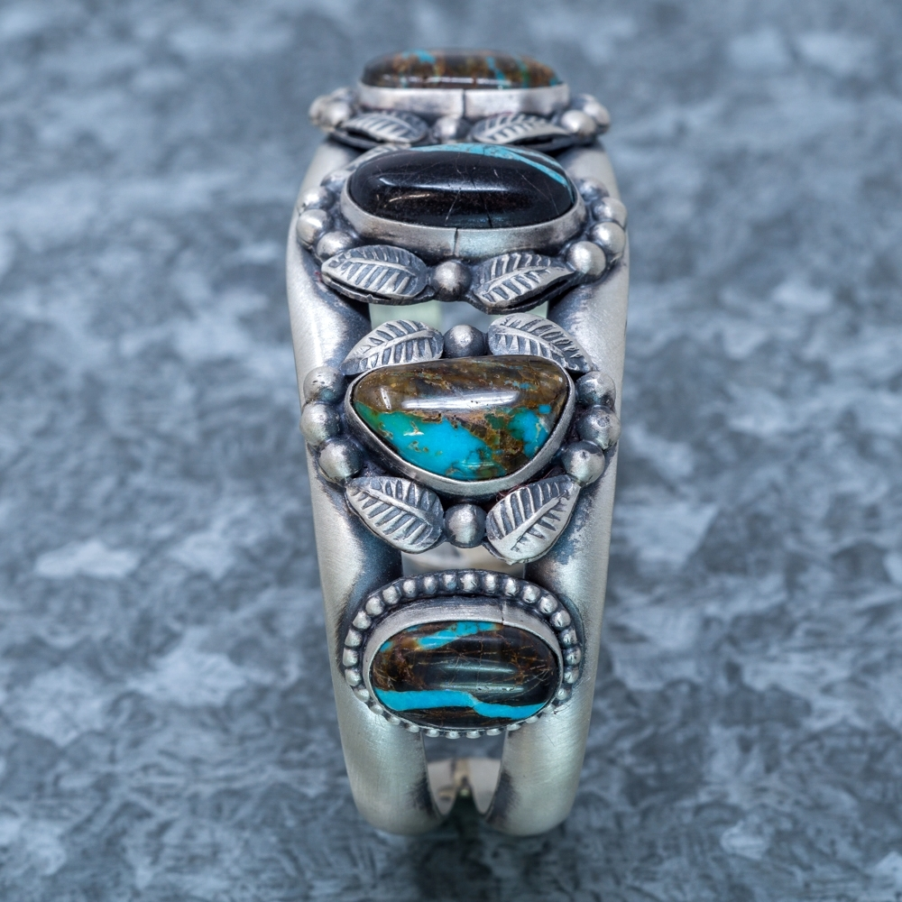 Blue Jay Turquoise Cuff Bracelet - Side View