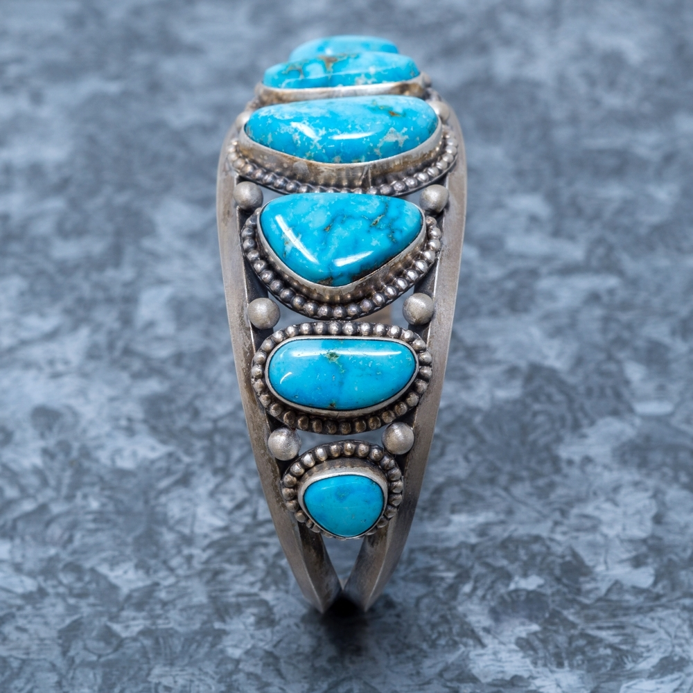 Turquoise Mountain Cuff Bracelet - Side View