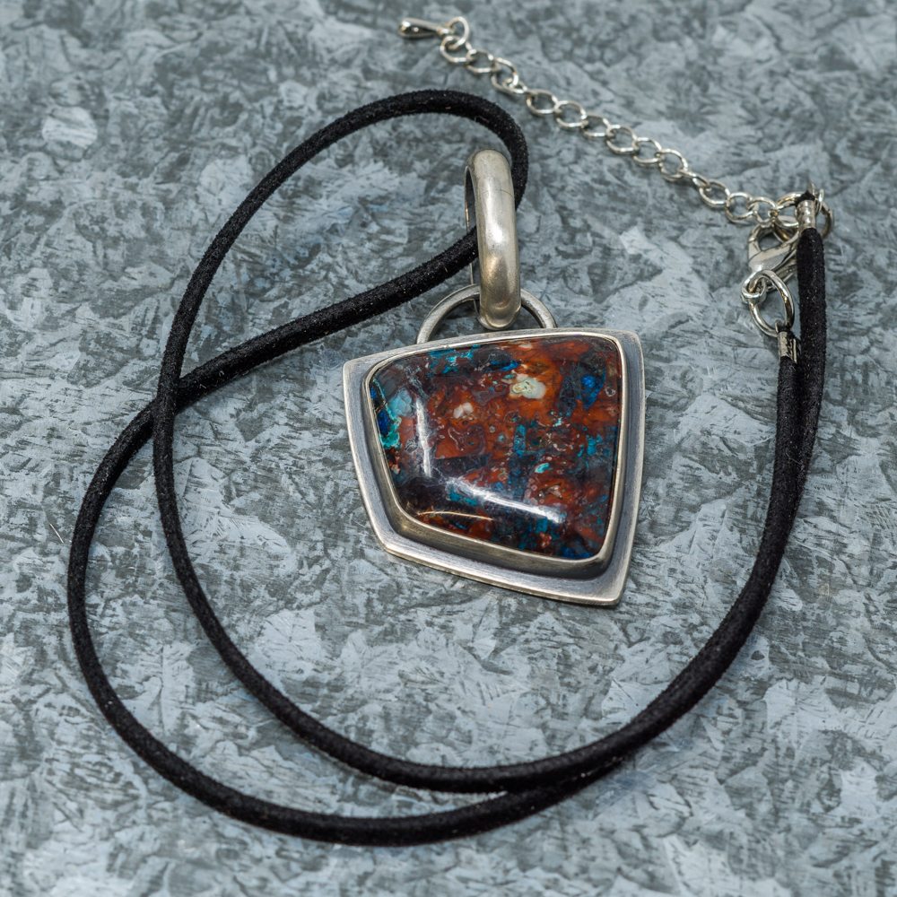Apache Chrysocolla Pendant by Aztex SG190069