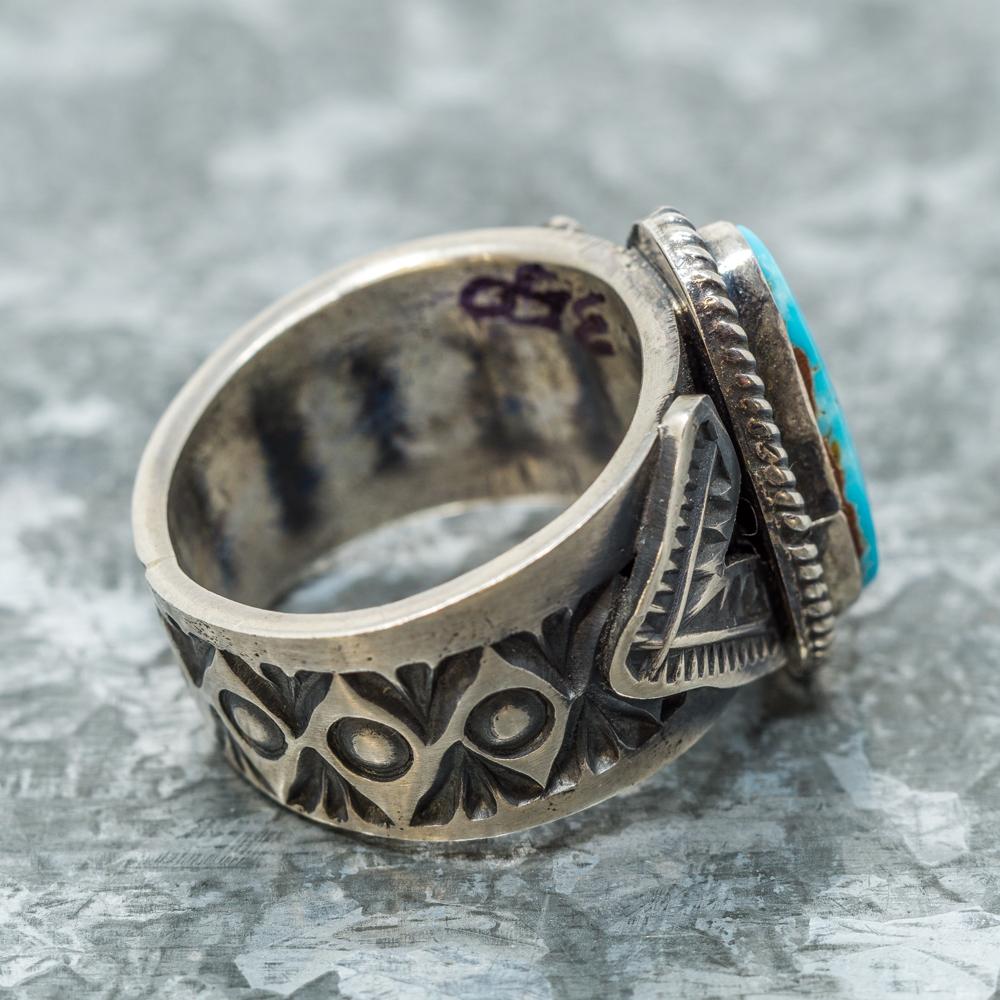 Kingman Turquoise Single Stone Ring