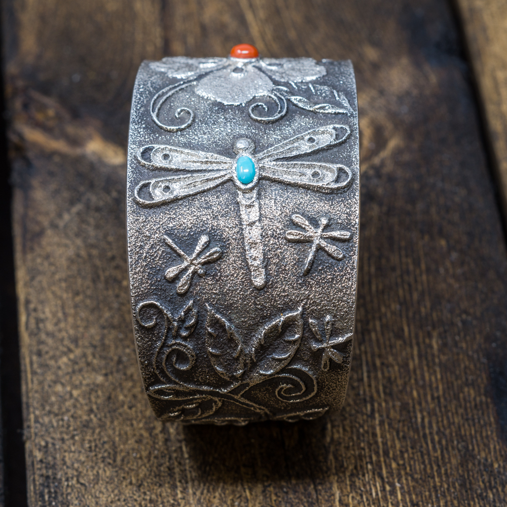 Dragonfly & Flower Bracelet by Rebecca Begay