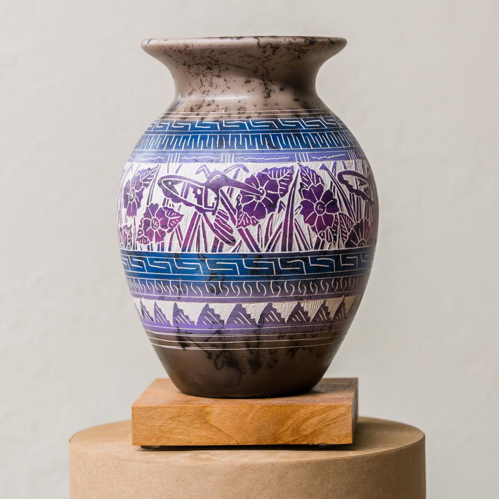 Navajo Horse Hair Pottery by Theresa Whitegoat GA200004