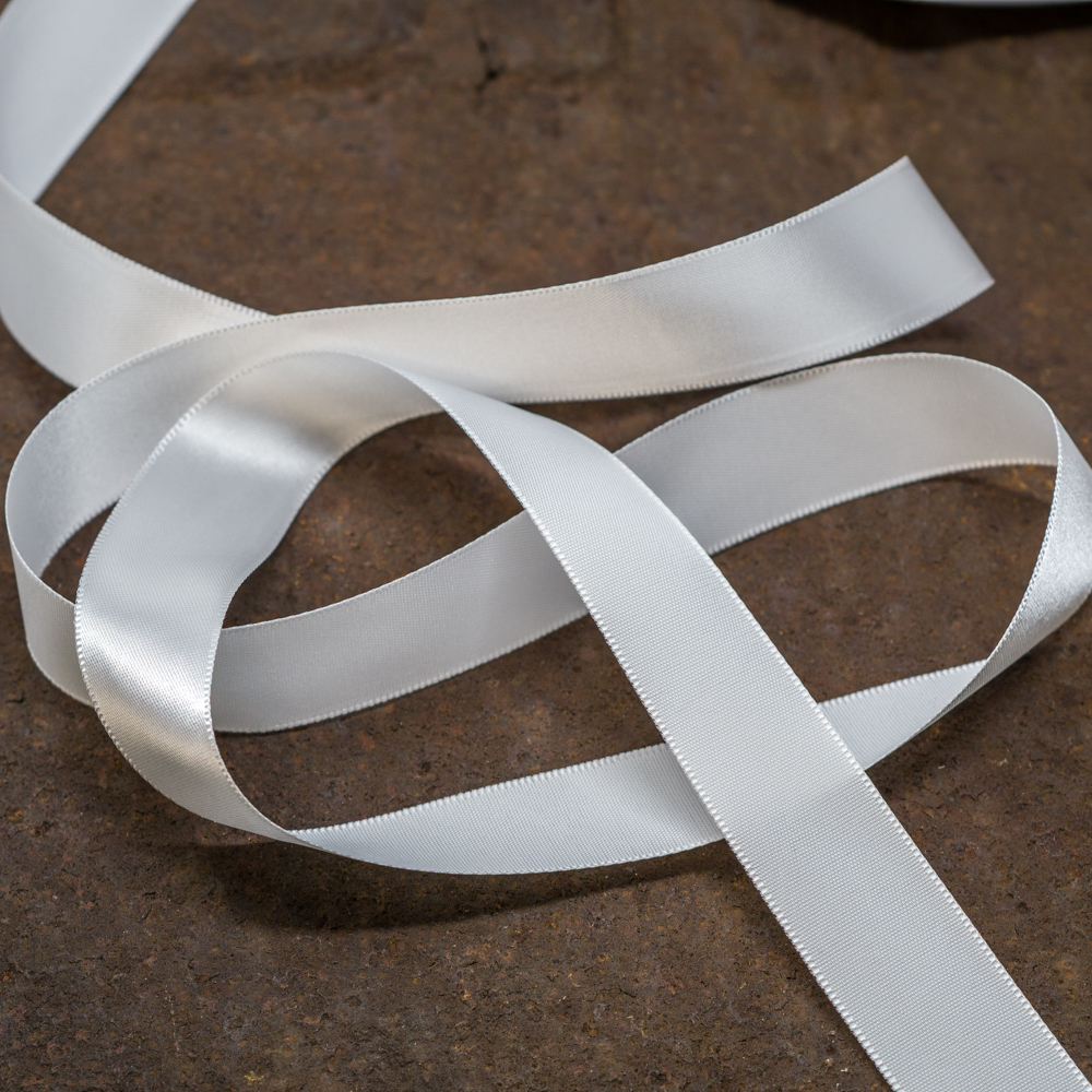 Satin Ribbon-White TP200009