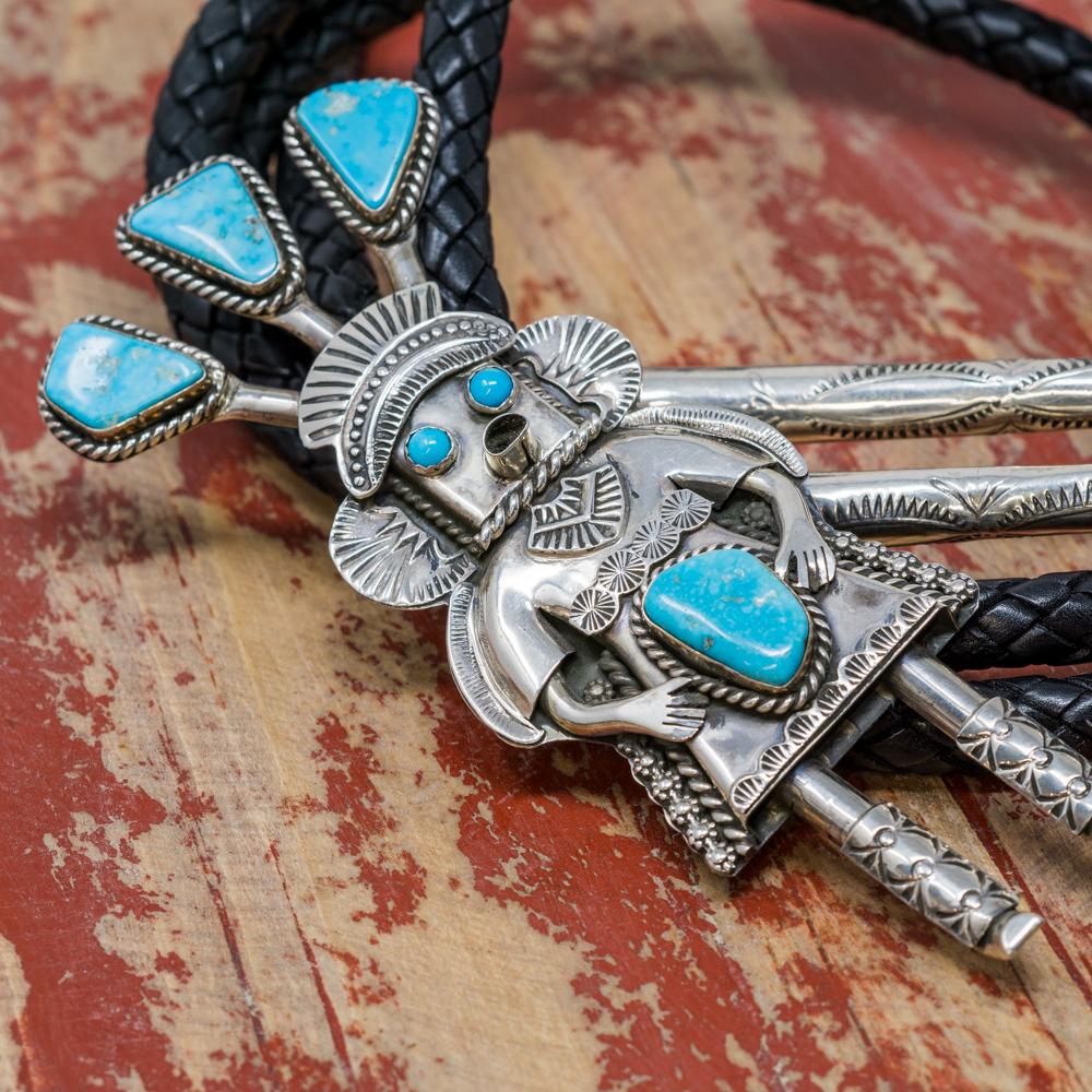 Sterling Silver & Turquoise Bolo by Garrett Hale JE200084