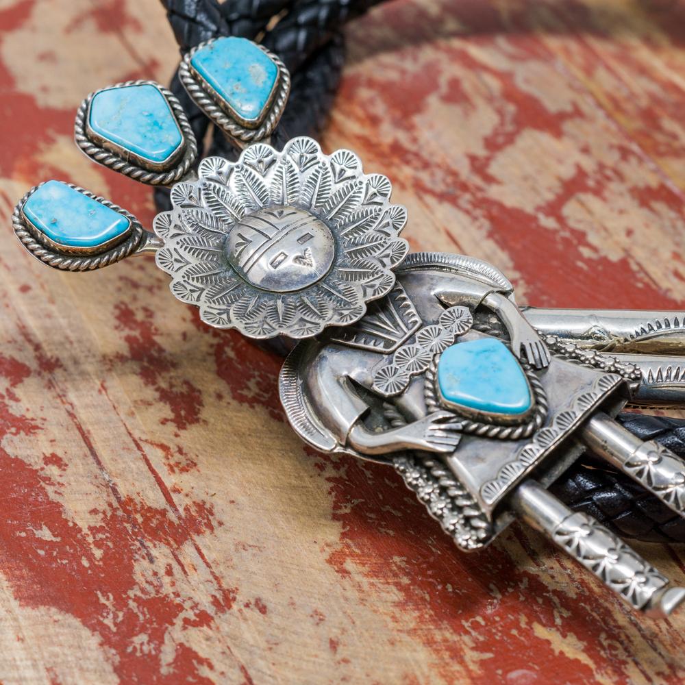 Sterling Silver & Turquoise Bolo by Garrett Hale JE200085