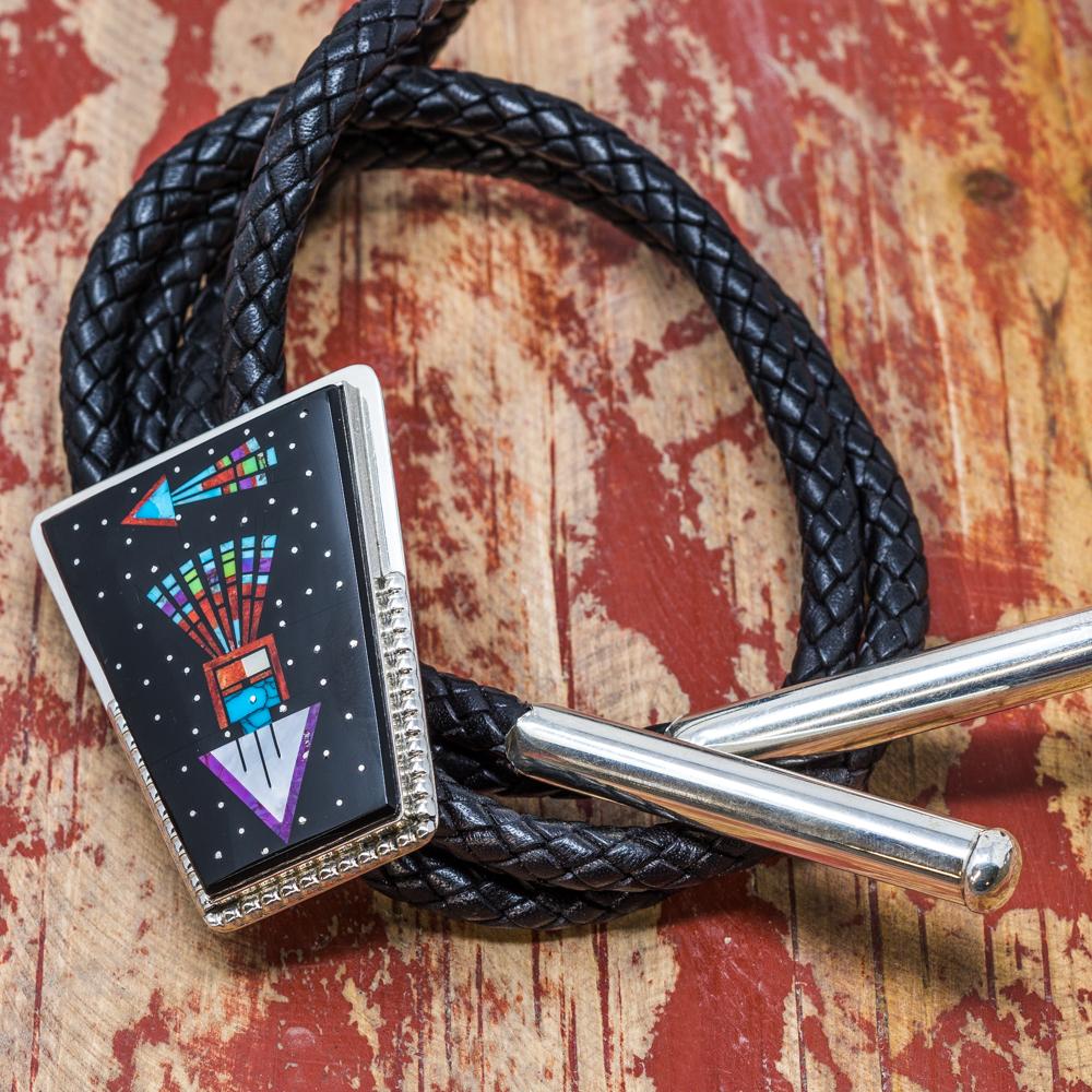 Micro Inlay Bolo by Sylvana Apache JE200086