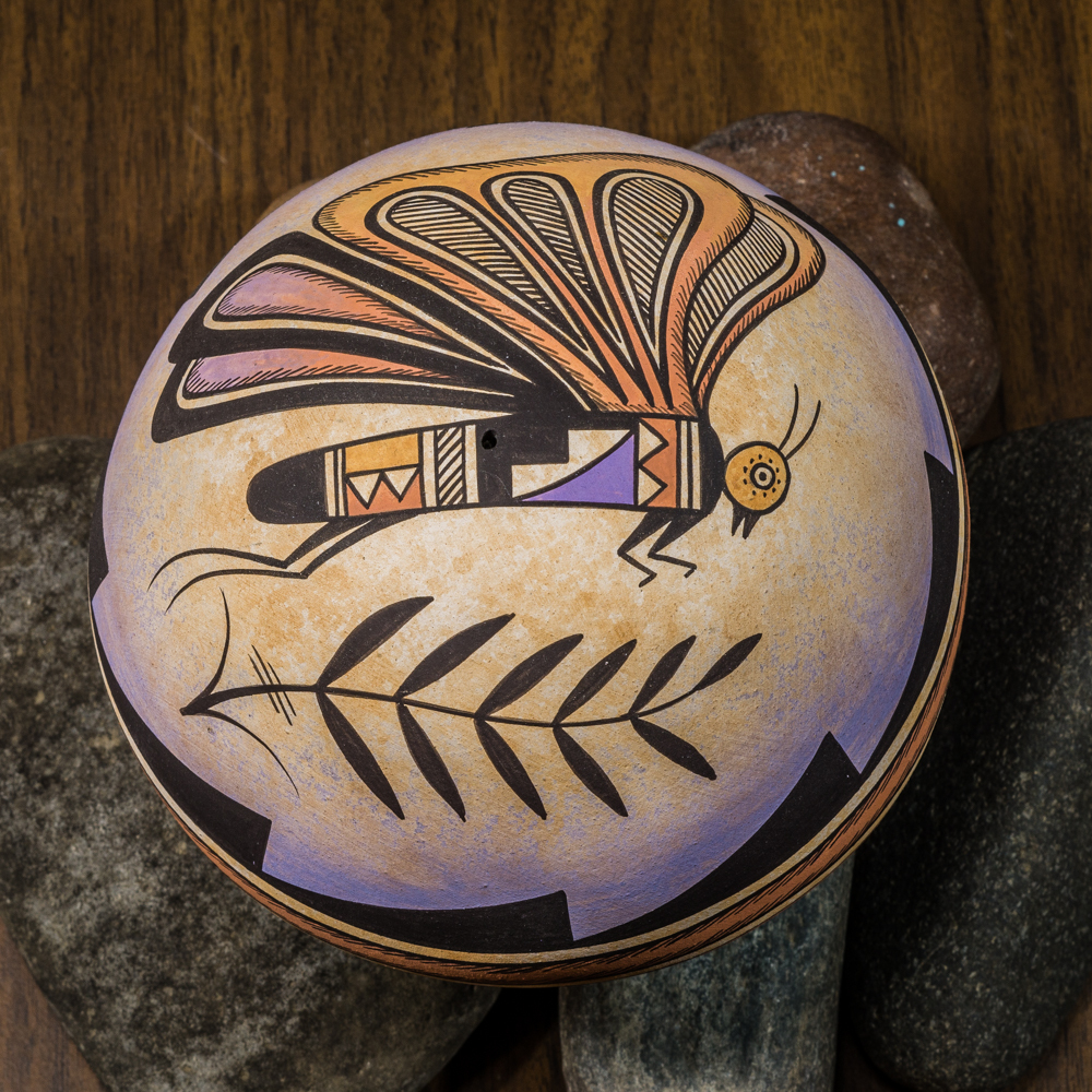 Acoma Pottery by Westly Begaye - Butterfly GA200015