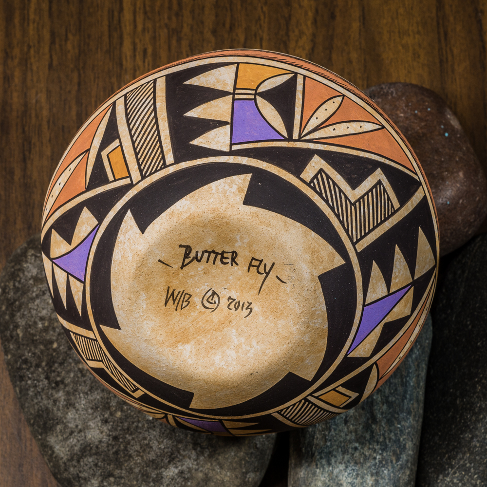 Acoma Pottery by Westly Begaye - Butterfly