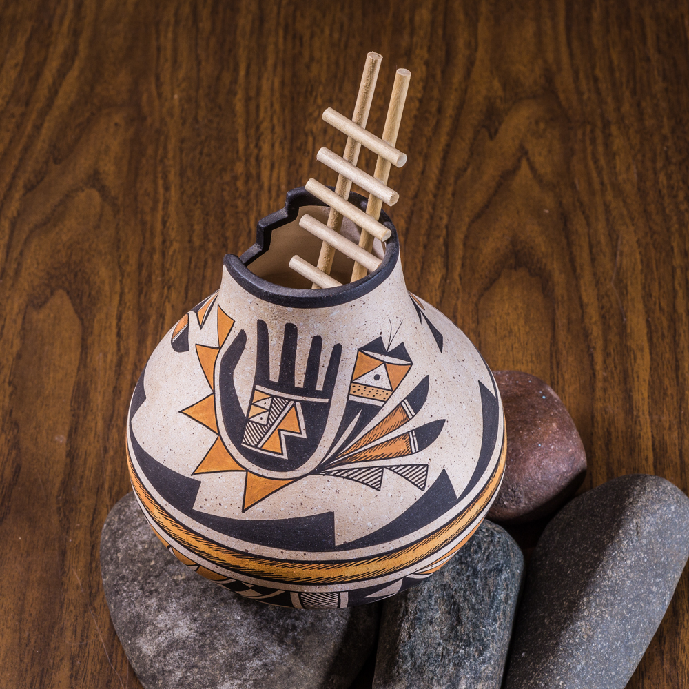 Acoma Pottery by Westly Begaye - Harmony Flute Player