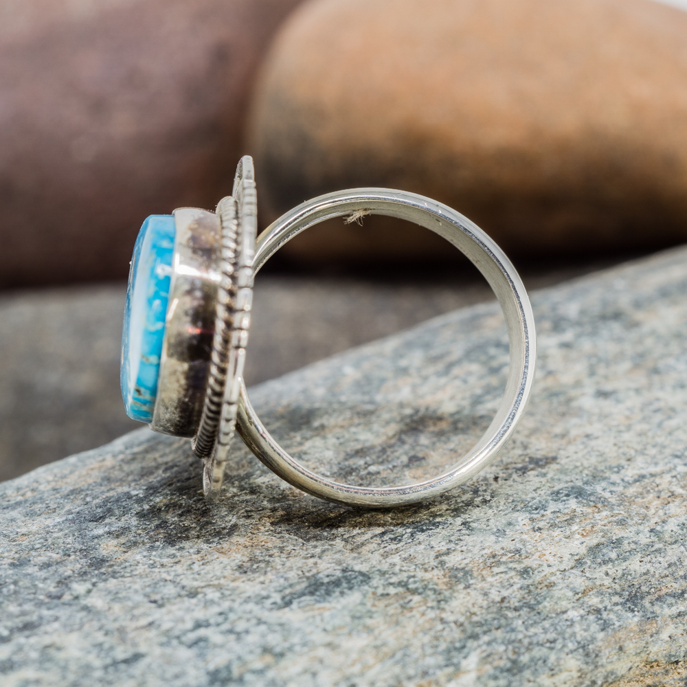 Kingman Turquoise Ring in Sterling Silver