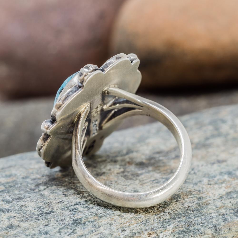 Waterweb Kingman Turquoise Ring in Sterling Silver